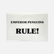 Emperor Penguins Rule Rectangle Magnet