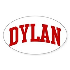 DYLAN (red) Oval Decal