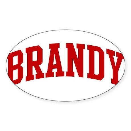 BRANDY (red) Oval Sticker