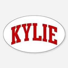 KYLIE (red) Oval Decal