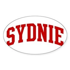 SYDNIE (red) Oval Decal