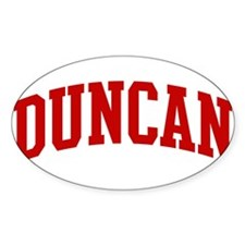 DUNCAN (red) Oval Decal
