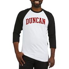 DUNCAN (red) Baseball Jersey