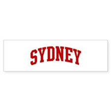 SYDNEY (red) Bumper Stickers