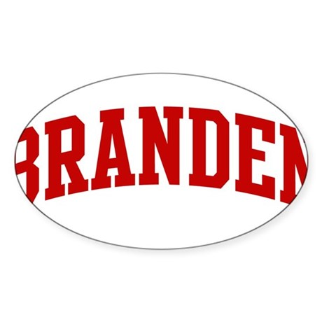 BRANDEN (red) Oval Sticker