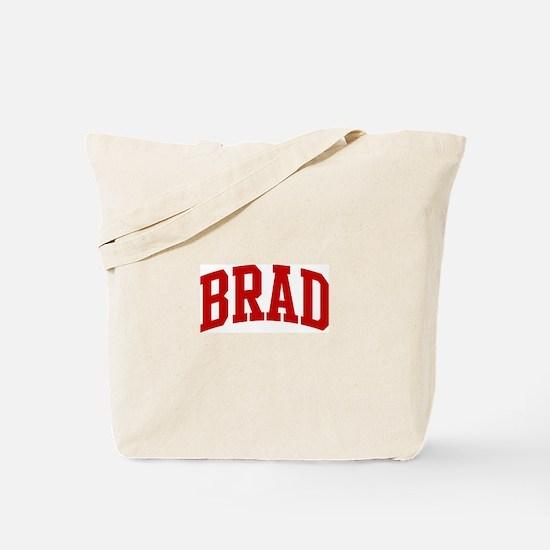 BRAD (red) Tote Bag