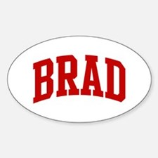 BRAD (red) Oval Bumper Stickers
