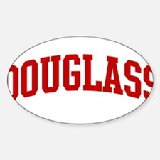 DOUGLASS (red) Oval Decal