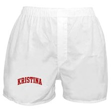 KRISTINA (red) Boxer Shorts