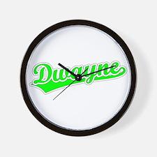 Retro Dwayne (Green) Wall Clock