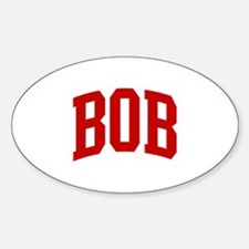 BOB (red) Oval Decal