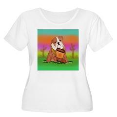 Cute English Bulldog Design T-Shirt