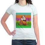 Cute English Bulldog Design Jr. Ringer T-Shirt