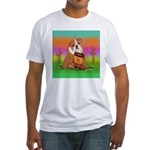 Cute English Bulldog Design Fitted T-Shirt