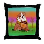 Cute English Bulldog Design Throw Pillow