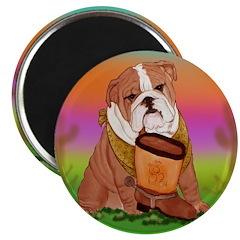 Cute English Bulldog Design Magnet