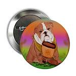 Cute English Bulldog Design 2.25