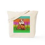 Cute English Bulldog Design Tote Bag
