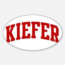 KIEFER (red) Oval Decal