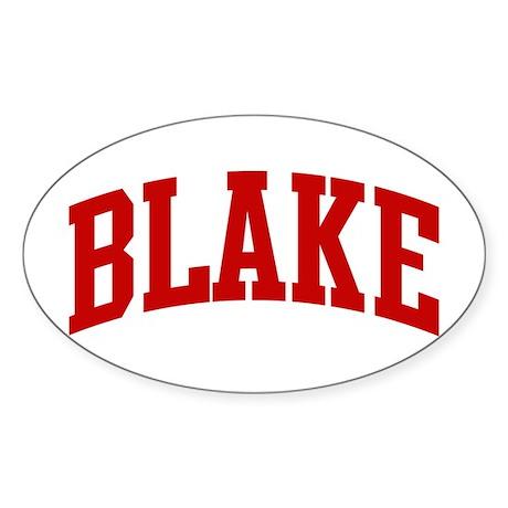 BLAKE (red) Oval Sticker