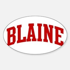 BLAINE (red) Oval Decal