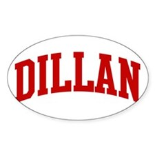 DILLAN (red) Oval Decal