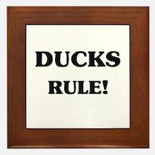 Ducks Rule Framed Tile