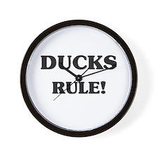 Ducks Rule Wall Clock