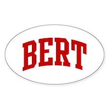 BERT (red) Oval Bumper Stickers