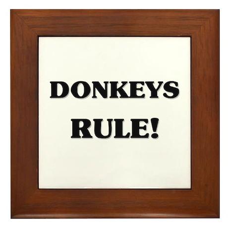 Donkeys Rule Framed Tile
