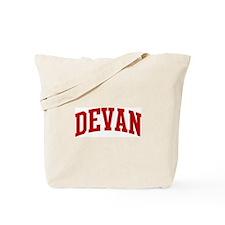 DEVAN (red) Tote Bag