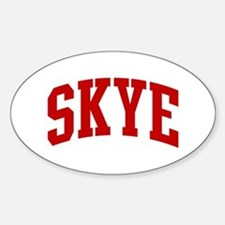 SKYE (red) Oval Decal