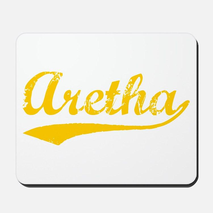 Vintage Aretha (Orange) Mousepad