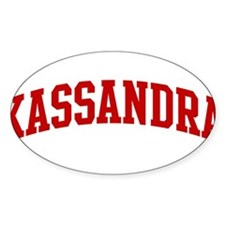 KASSANDRA (red) Oval Decal