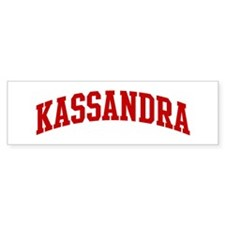 KASSANDRA (red) Bumper Car Sticker