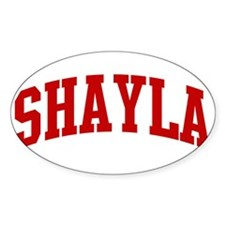 SHAYLA (red) Oval Decal