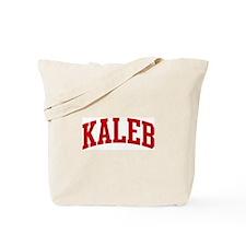 KALEB (red) Tote Bag