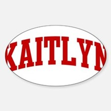 KAITLYN (red) Oval Decal