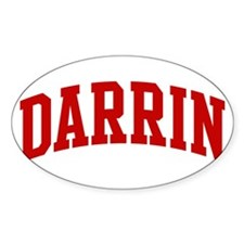 DARRIN (red) Oval Decal