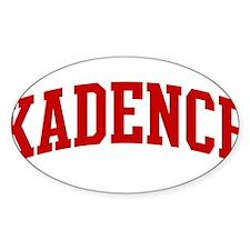 KADENCE (red) Oval Decal
