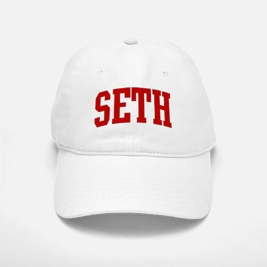 SETH (red) Baseball Baseball Cap