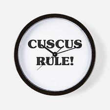 Cuscus Rule Wall Clock