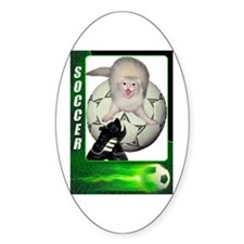 Soccer Ferret Oval Decal