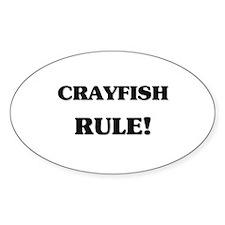 Crayfish Rule Oval Decal