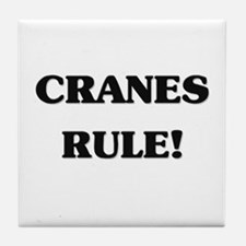 Cranes Rule Tile Coaster