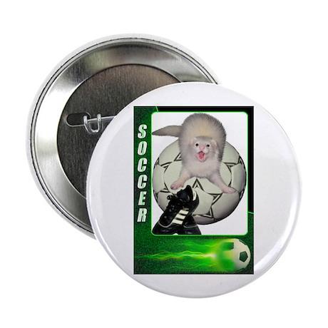 "Soccer Ferret 2.25"" Button (100 pack)"