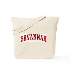 SAVANNAH (red) Tote Bag