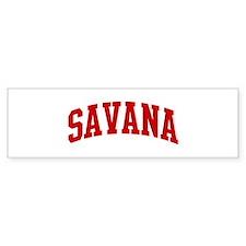 SAVANA (red) Bumper Bumper Sticker