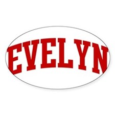 EVELYN (red) Oval Decal