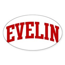 EVELIN (red) Oval Decal